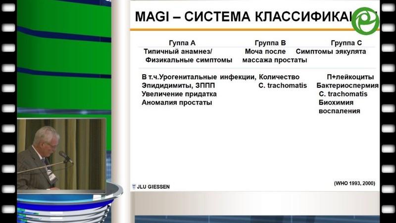 Вольфганг Вайднер - Влияние инфекционно-воспалительных заболеваний мужской половой системы (MAGI) на фертильность и сексуальную функцию